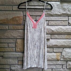 Tart Intimates blush leopard print sleep chemise L